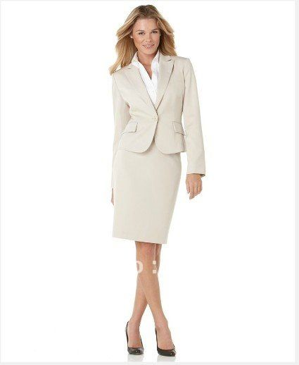Aliexpress.com : Buy Women's Suit Beige Women Suit One Button ...