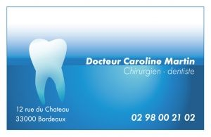 Cartes De Correspondance Chirurgien Carte Visite Essayer Projets