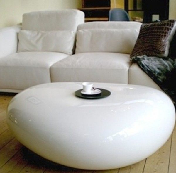Large Stone Koishi Coffee Table And Pouf2