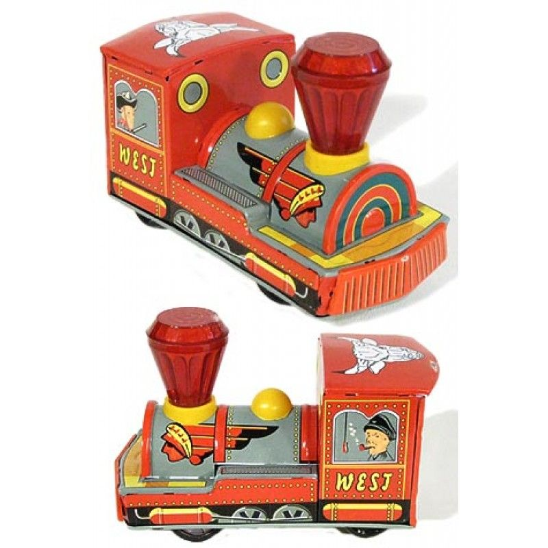 Christmas Red Sparkle Western Train Toys Modern Toys