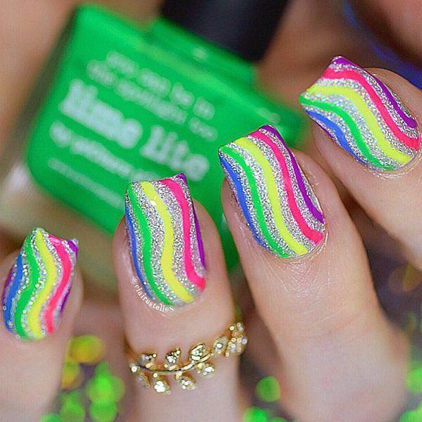 55 Stripes Nail Art Ideas | Arte de uñas, Uña decoradas y Deco