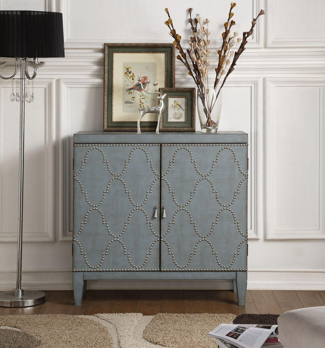 Cherie Console Table In Antique Blue Acme Furniture 90296 Acme Furniture Furniture Wood Doors Interior