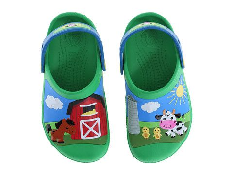 a2b0e173b2f4 Crocs Kids Creative Crocs Barnyard Clog (Toddler Little Kid) Green Grass -  6pm.com