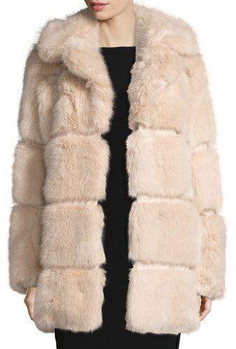 45f369d078fe6 Kate Spade New York Banded Faux-Fur Coat