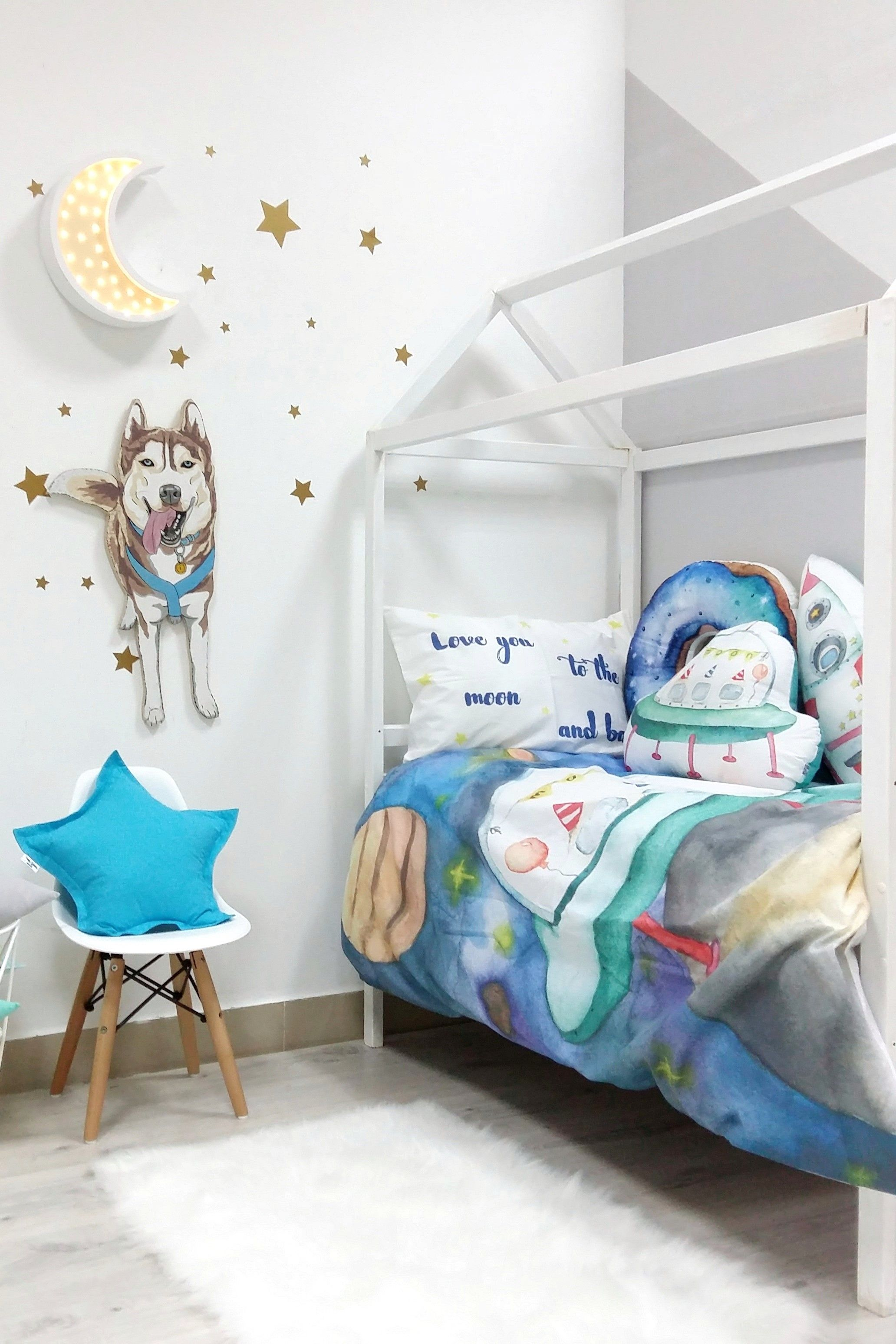 Spaces Bedding Set Space Bed Set Kids Bedroom Decor Kid Room Decor