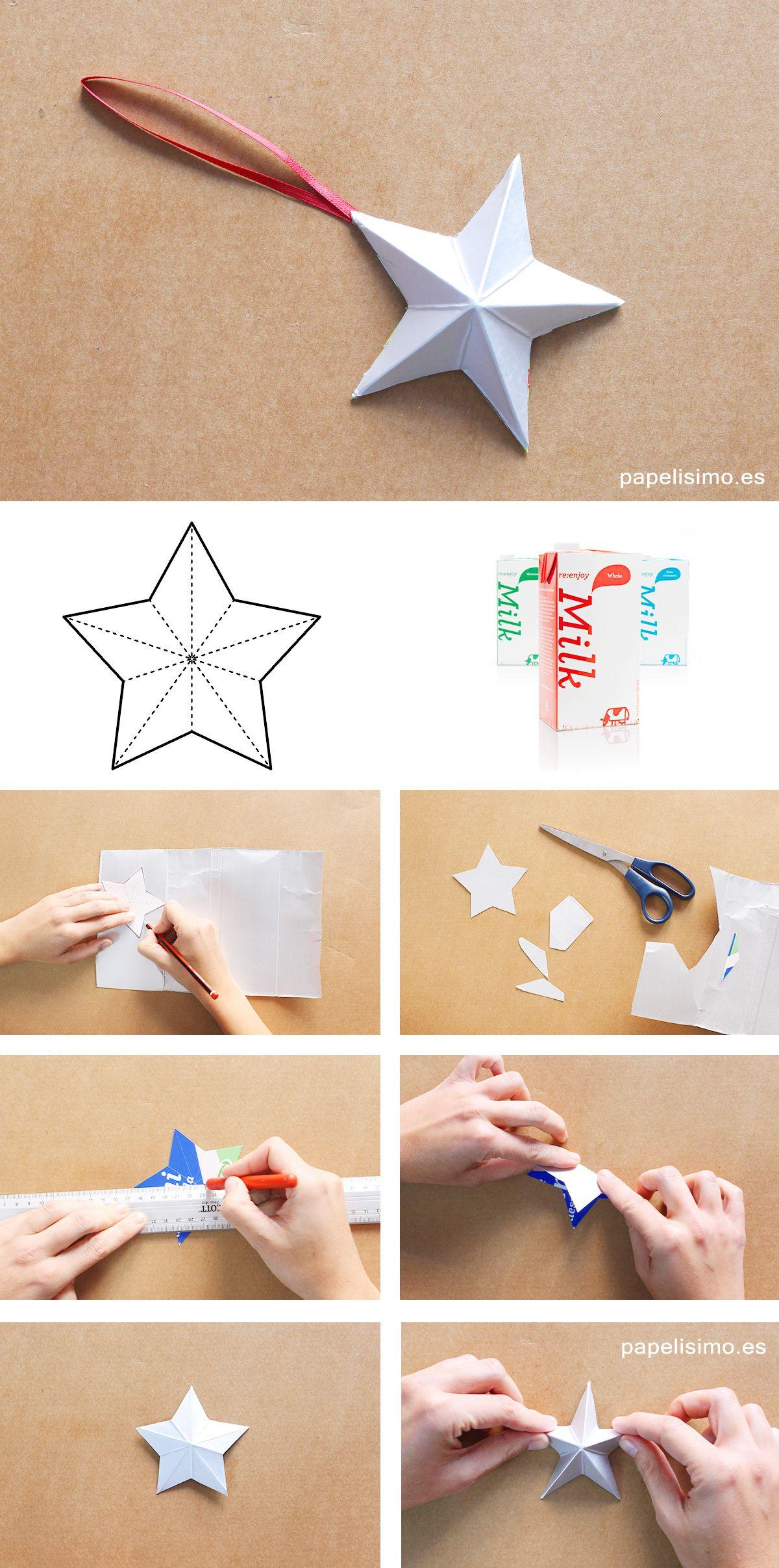 Como hacer adornos navidenos tetra brik christmas - Como realizar adornos navidenos ...