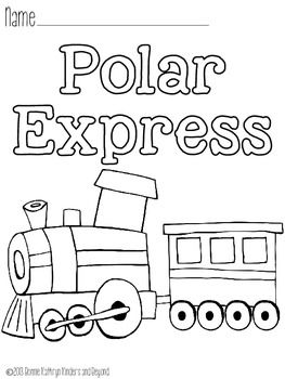polar express coloring pages teacherspayteacherscom