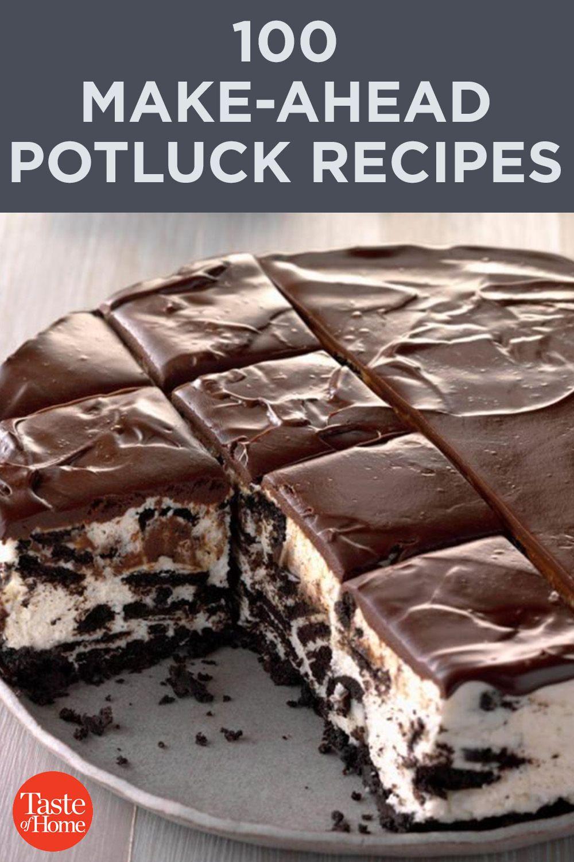 100 Make-Ahead Potluck Recipes