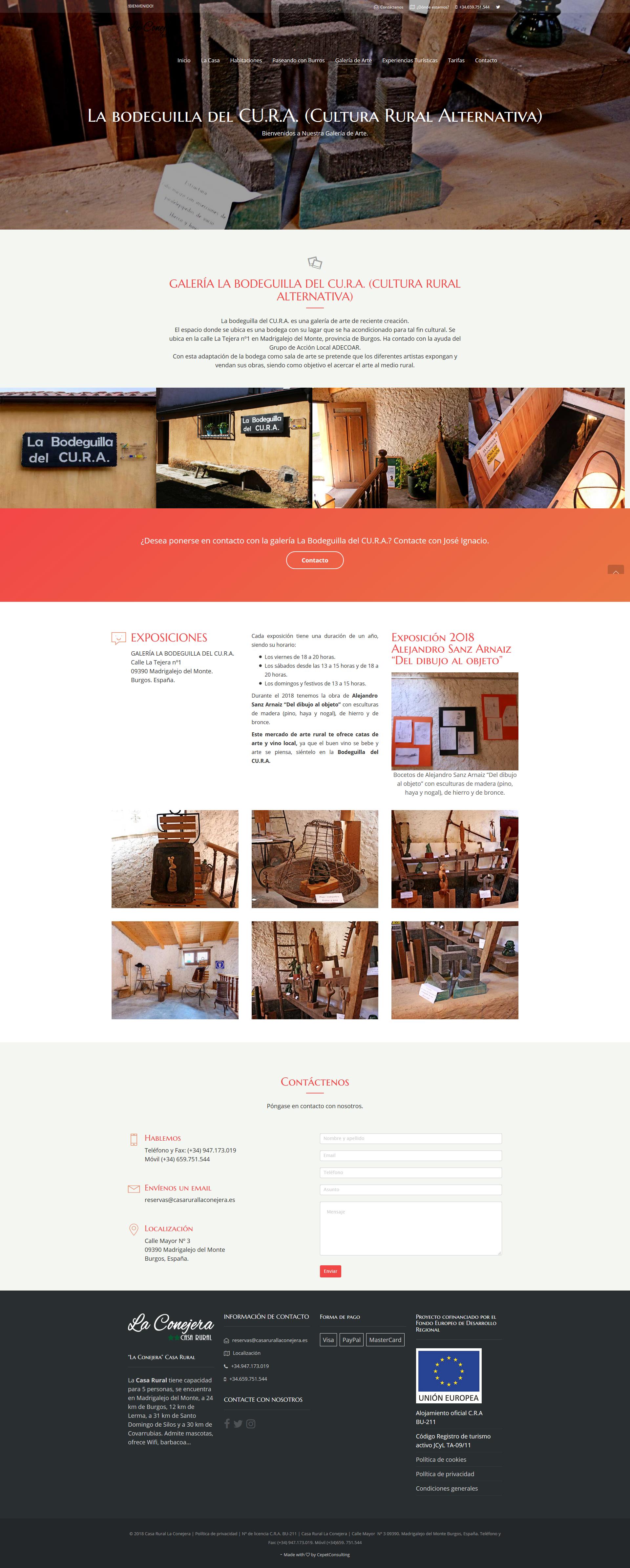 Diseño Web para casa rural -Burgos