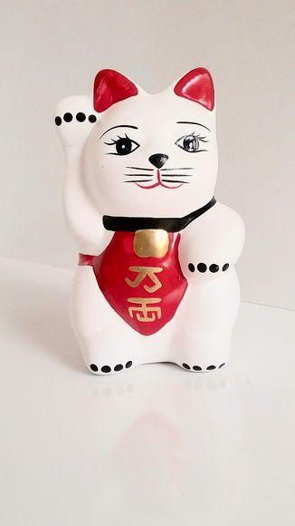 Cofre Gato Chinês em Cerâmica