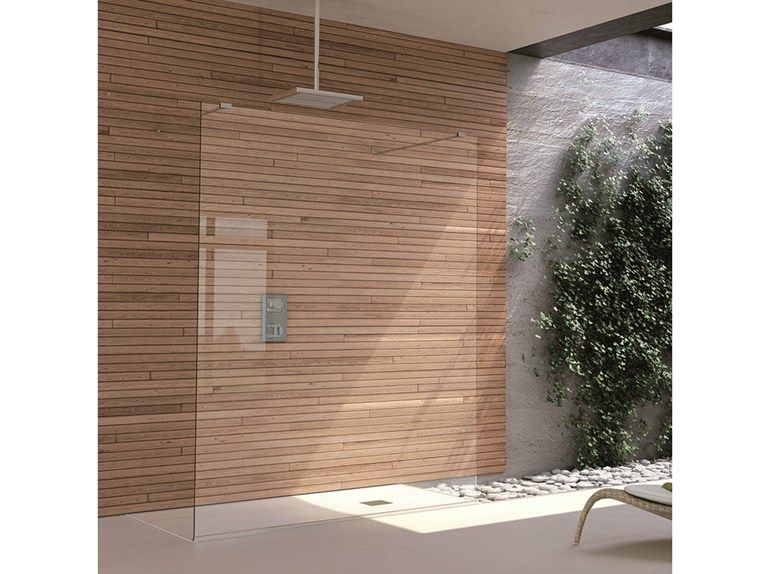 Tempered Glass Shower Wall Panel ITALO CENTRALE   TDA