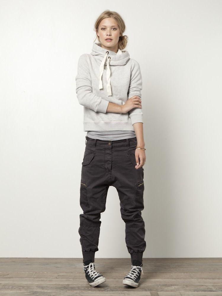 New  Down Shirt Black Sweater Grey Pants Leopard Belt Black Flats