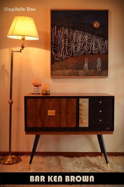 Mid century stereo, now trendy bar
