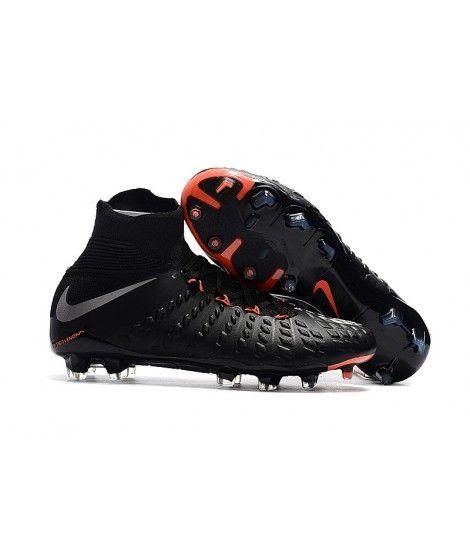 buy online 42442 34635 Nike Hypervenom Phantom III DF FG PEVNÝ POVRCH Černá Stříbro Oranžový  Kopačky