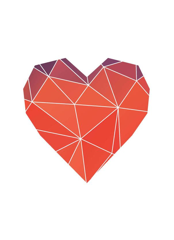 Геометрическое сердце картинка