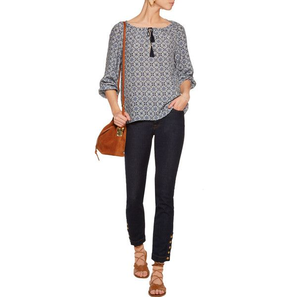 7 for all mankind Rozie mid-rise slim-leg jeans ($105) ❤ liked on Polyvore featuring jeans, mid rise jeans, slim fit jeans, button-fly jeans, slim cut jeans and slim jeans