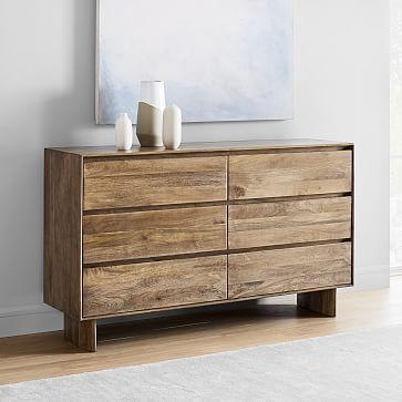 Anton Solid Wood 6 Drawer Dresser 6 Drawer Dresser Wood Bedroom Furniture Wood Nightstand