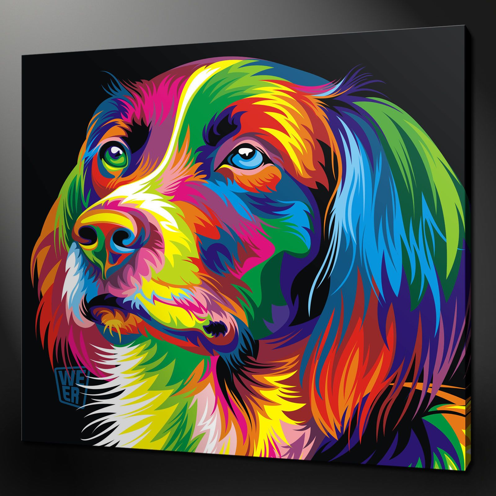 Abstract Dog Paintings | More Of Animal Canvas Wall Art Cuisine ...
