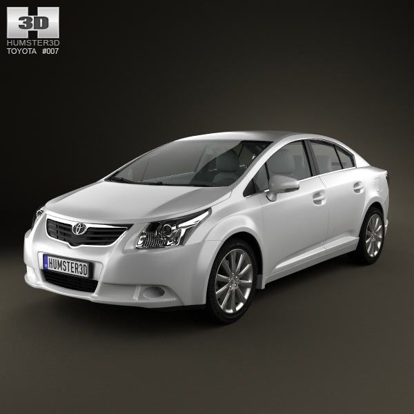 Toyota Avensis sedan 3d model from humster3d.com. Price: $75