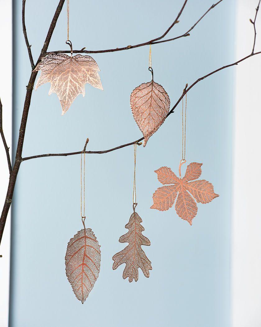 Copper Christmas Ornaments.Copper Christmas Ornaments Lace Leaf Ornaments Set Of 5