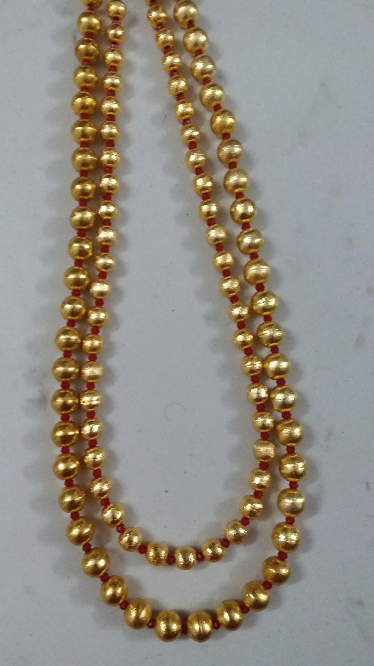 Golden beaded chain