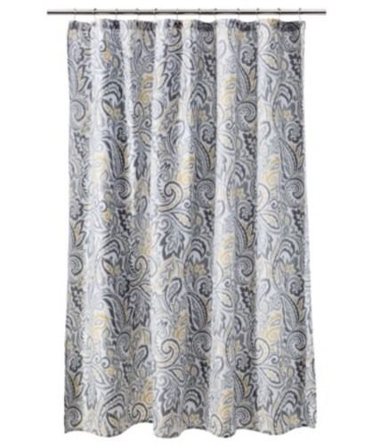 Threshold Yellow Gray Paisley Shower Curtain Grey New Target Ebay Paisley Shower Curtain Shower Curtain Curtains