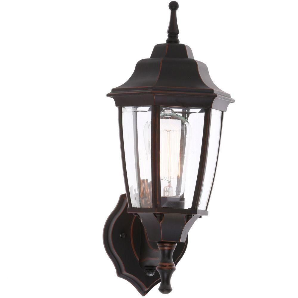 Hampton bay light oilrubbed bronze outdoor dusktodawn wall