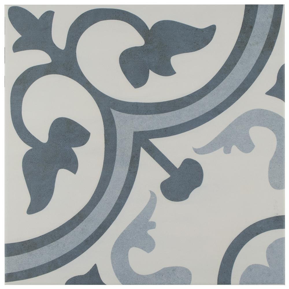 10 Square Foot Box Gatsby Ceramic 8 x 8 Tin Look Tiles White