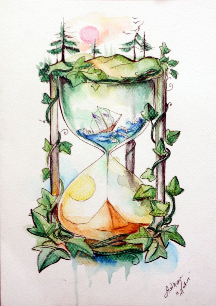 Time For Nature By Artofasthar Watercolor Art Tattoo Art