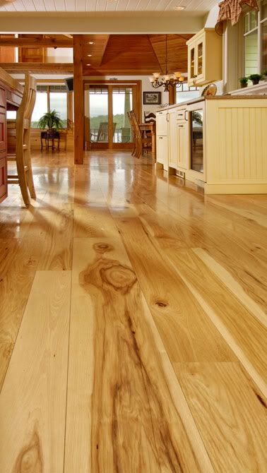 Wide Plank And Hickory So Beautiful Wide Plank Hickory Flooring Hickory Hardwood Floors Hickory Flooring