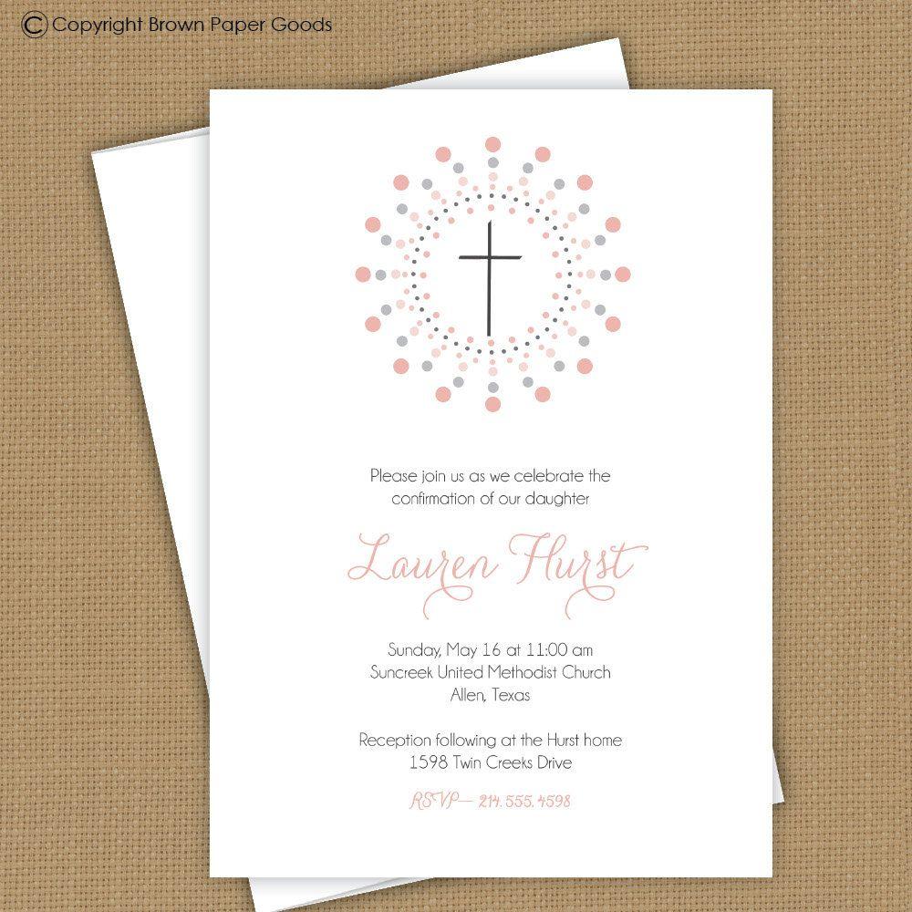 Confirmation invitation. First Communion invitation