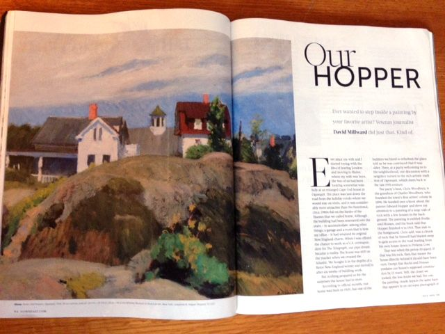 """The July 2015 DownEast magazine carries an article """"Our Hopper"""" by David Millward that  """"has done some memorable work in and around Ogunquit"""" and calls me  """"a leading authority on Hopper."""""""