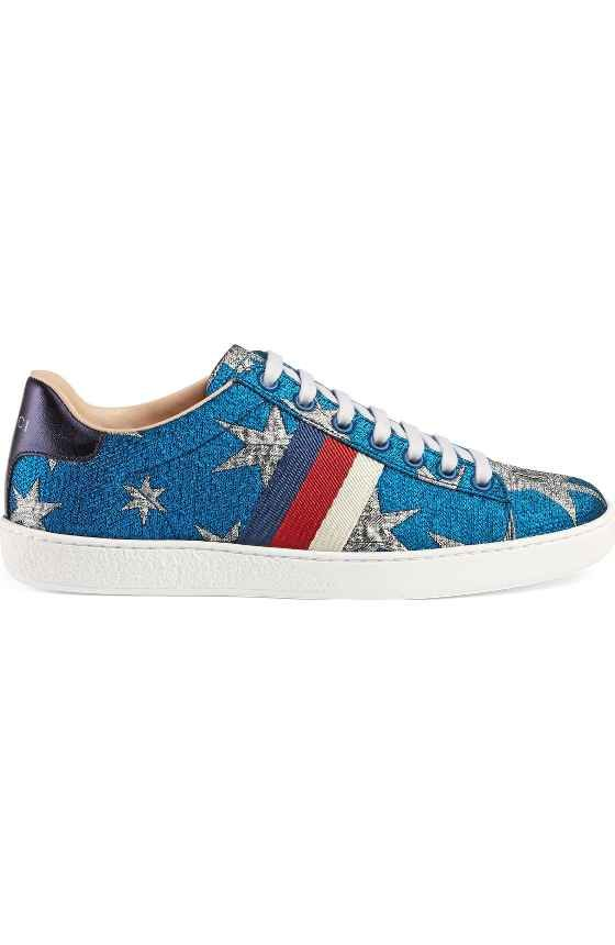 61d68c30df3 Free shipping and returns on Gucci New Ace Glitter Sneaker (Women) at  Nordstrom.com. Gucci s classic Ace low-top sneaker goes ultra-glam with a coating  of ...