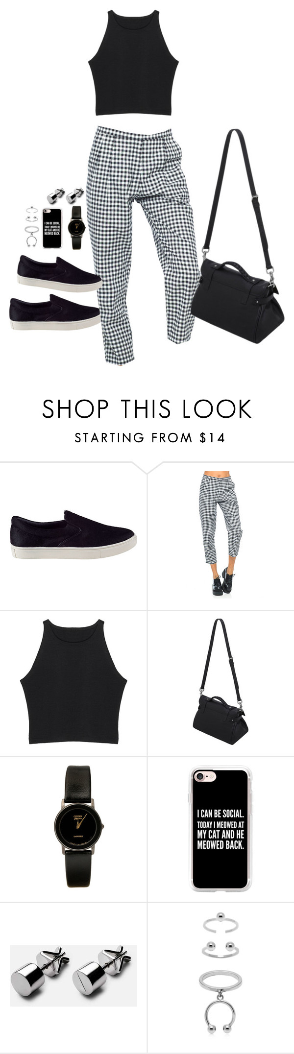 """""""Untitled #738"""" by dearestdana ❤ liked on Polyvore featuring Steve Madden, Motel, Mulberry, American Apparel, Casetify and Maria Francesca Pepe"""