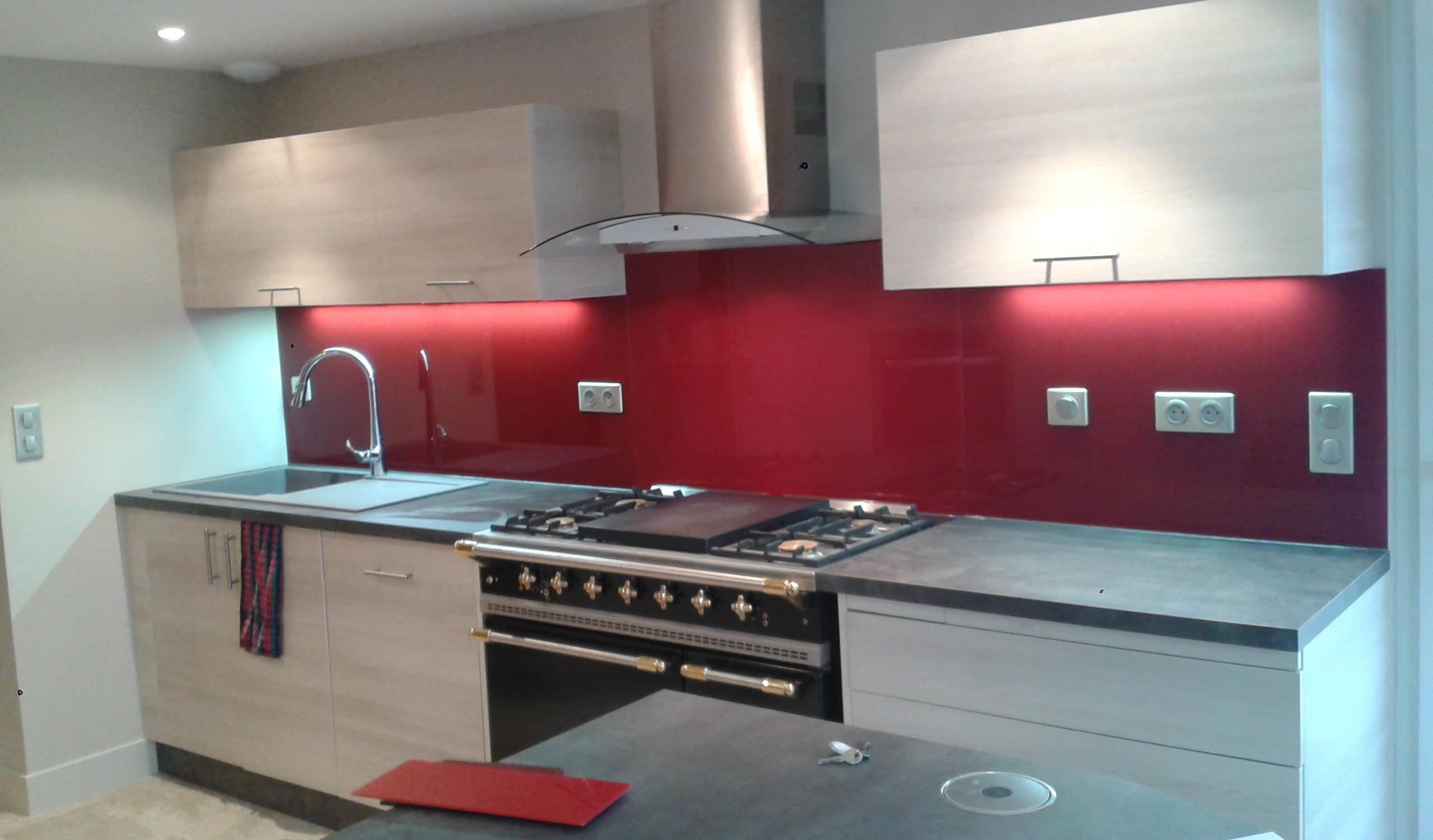 r sultat de recherche d 39 images pour credence rouge cuisine d co cuisine pinterest. Black Bedroom Furniture Sets. Home Design Ideas