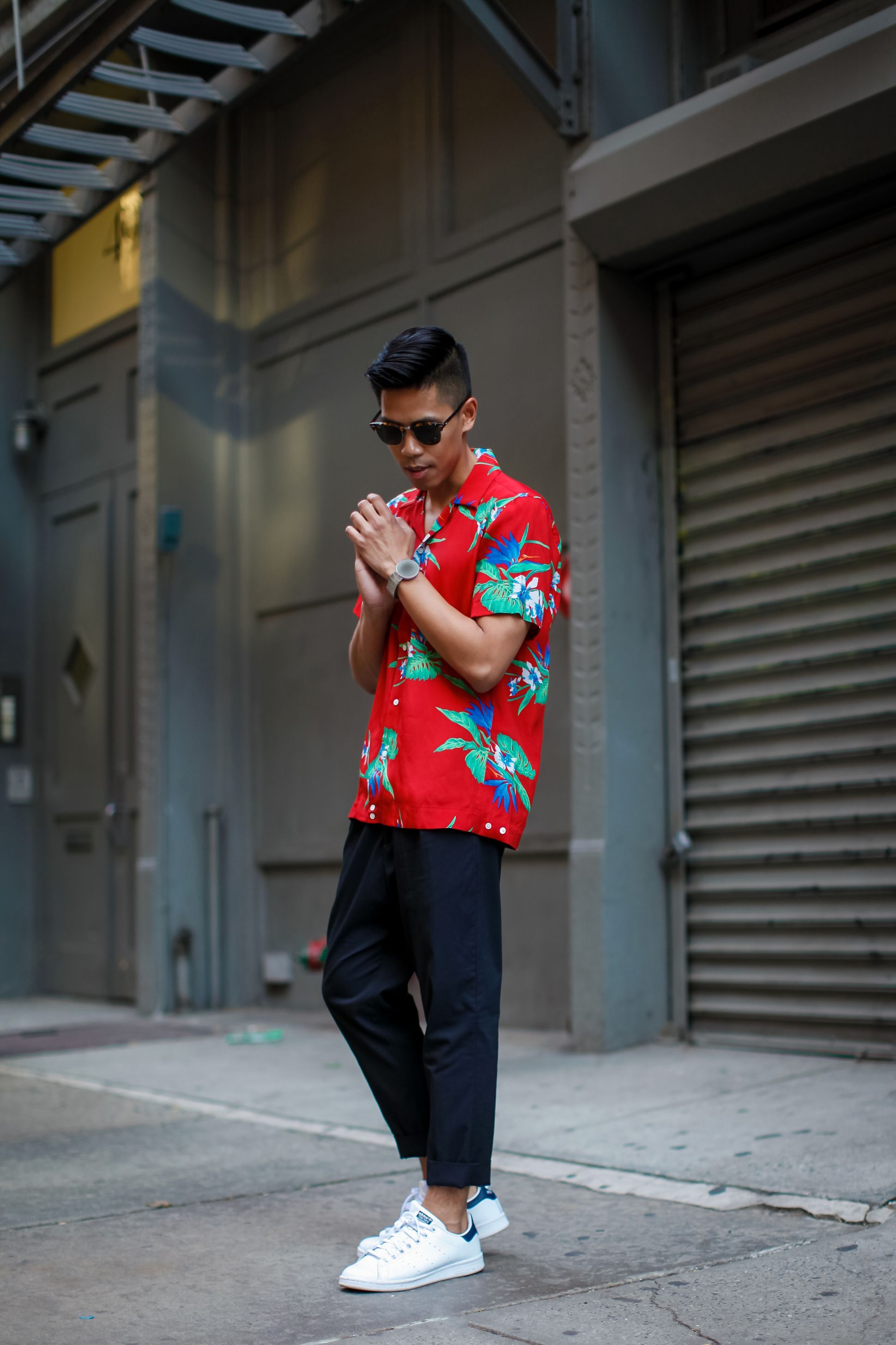 71270578d sandro mens Hawaiian shirt street style | Closet Content | Mens ...