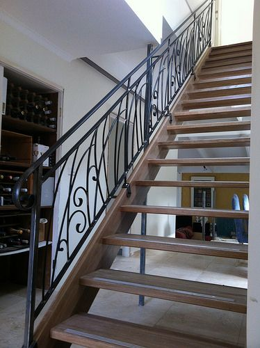 Forged steel staircase balustrade