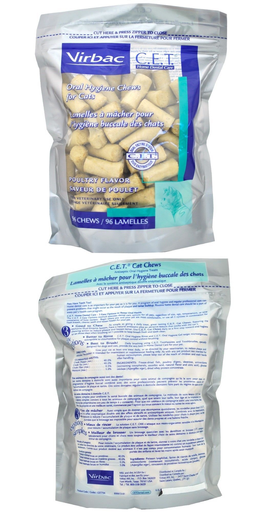 Virbac C E T Hextra Premium Oral Hygiene Chews Packaging May