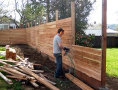 Backyard Fences Ideas inexpensive cedar privacy fence plans httplanewstalkcominexpensive Cool Fence