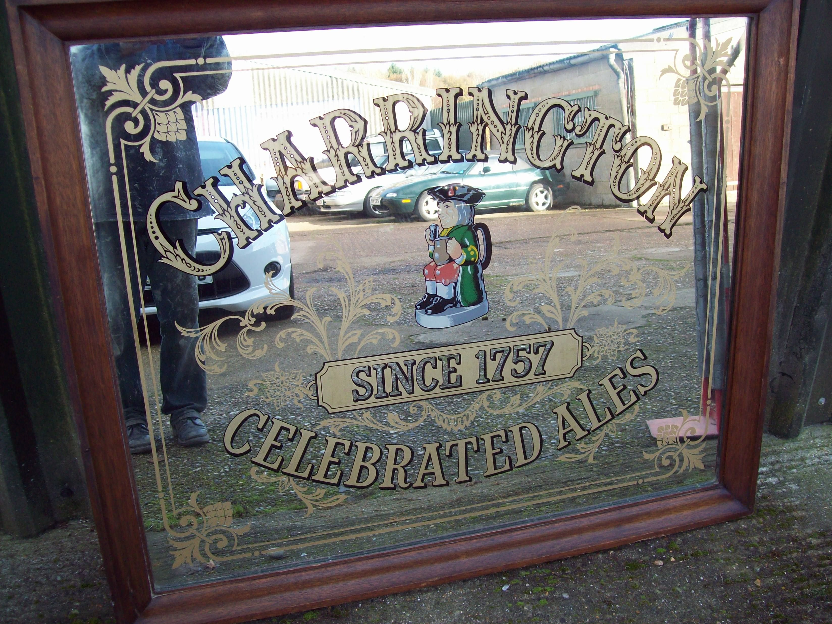 Vintage Charrington Pub Mirror Large And Heavy Bar