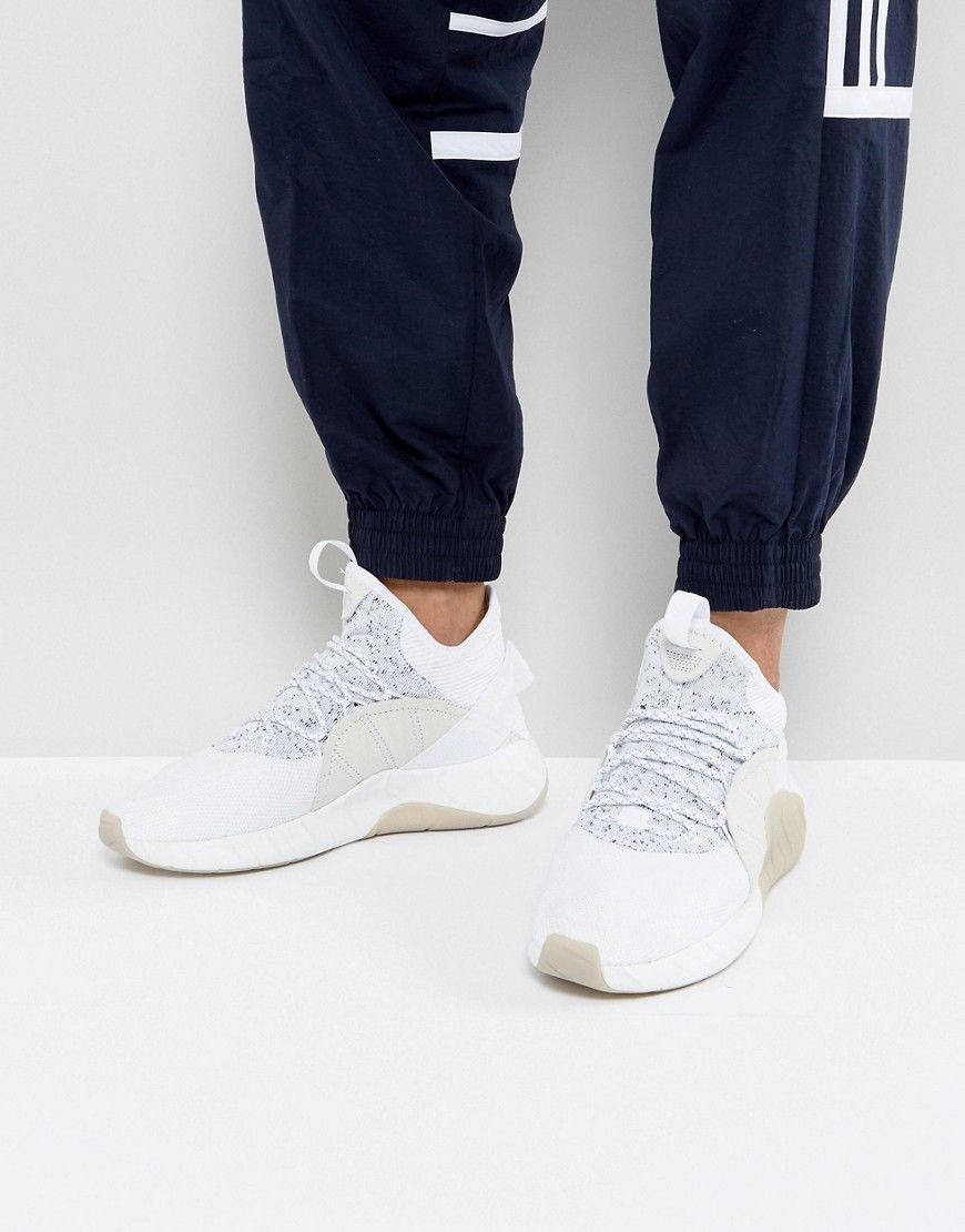 ADIDAS ORIGINALS TUBULAR RISE SNEAKERS IN WHITE BY3555