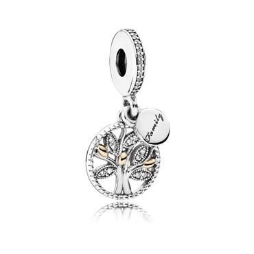 charm pandora arbol familiar