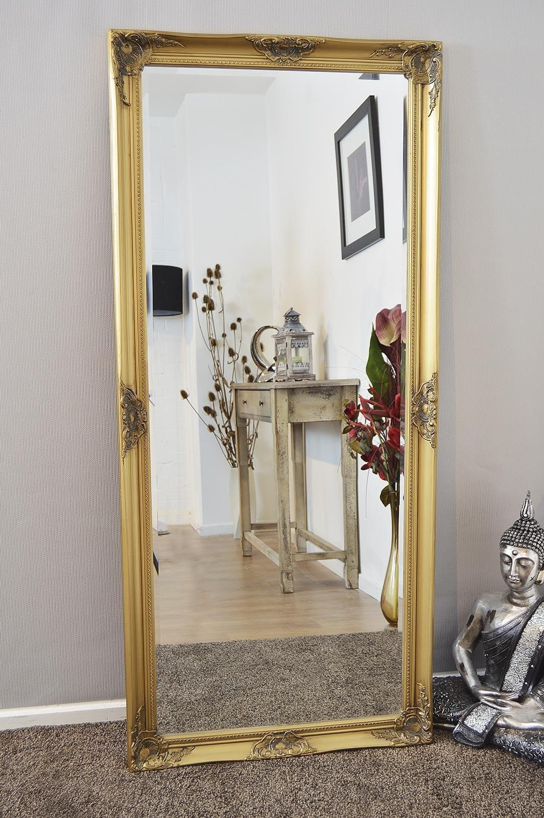 Extra Large Floor Standing Mirrors Large Floor Mirror Gold Mirror Wall Floor Standing Mirror