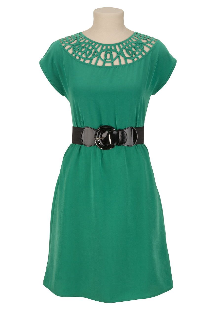 I love a good green dress belted lattice top dress maurices