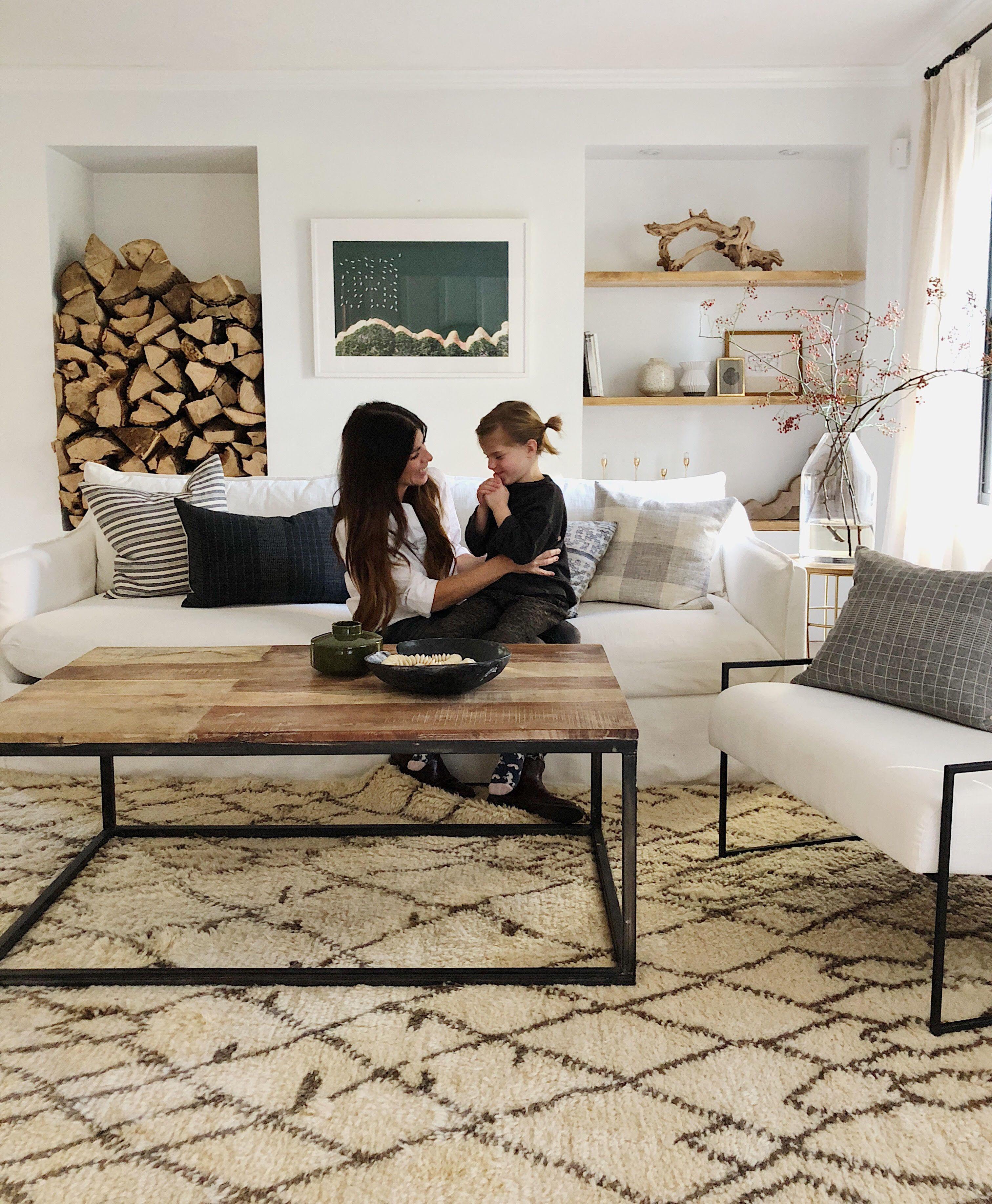 Home Tour A Rustic Modern Living Room Makeover Family Room Design Modern Rustic Living Room Small Room Design [ 3672 x 3024 Pixel ]