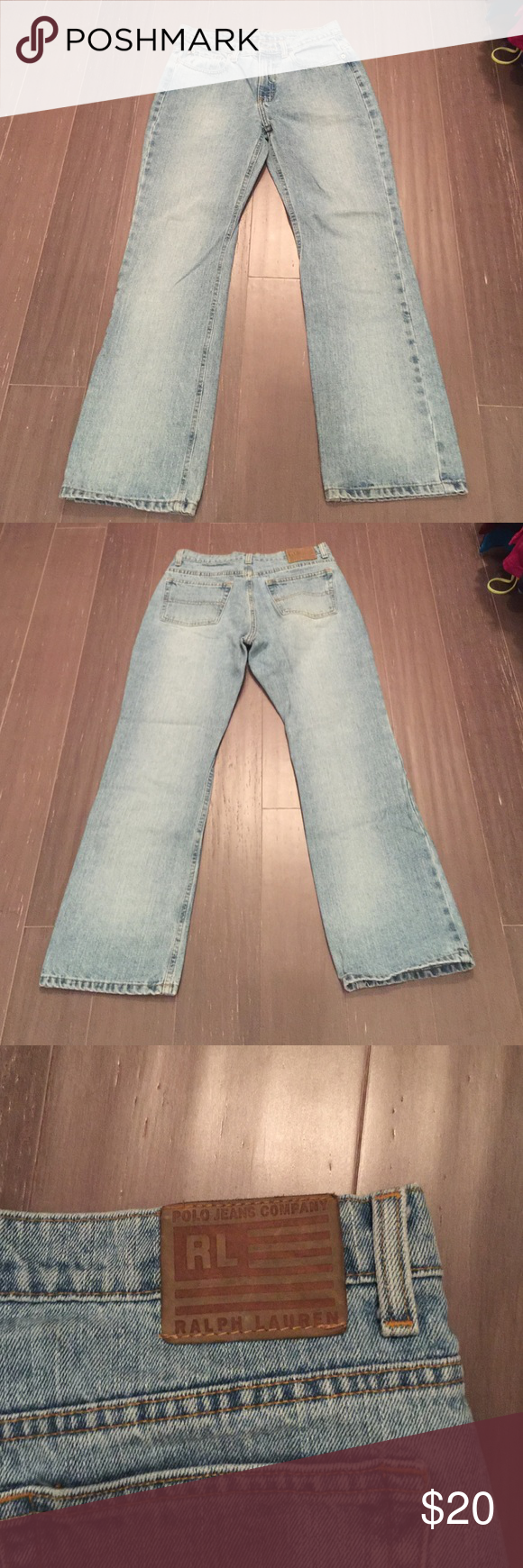 "Ralph Lauren Polo Jeans Ralph Lauren Polo Jeans. Worn a few times. Still in decent condition. Length is 29"".  Smoke free home but we do love our pets. Polo by Ralph Lauren Jeans Boot Cut"