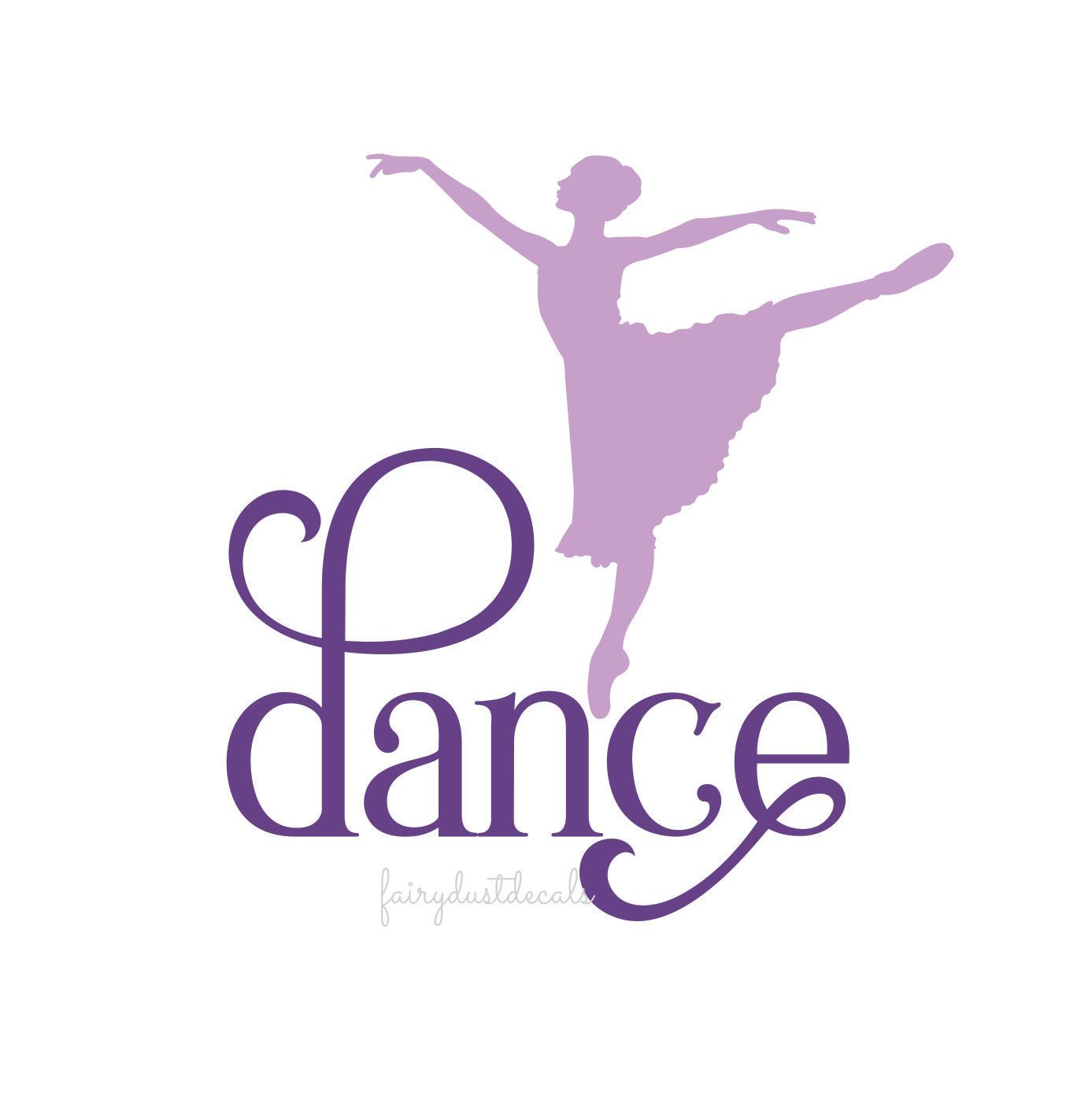 dance wall decal dance vinyl letters ballet dancer wall decal pretty ballet dancer wall decal the word dance in a classic style fancy letters