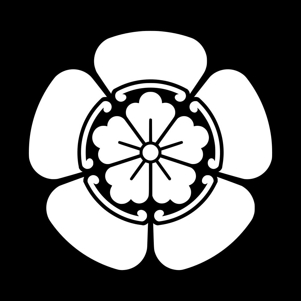 Japanese Flower Symbol Japanese Family Crest Japanese Crest Clan Symbols