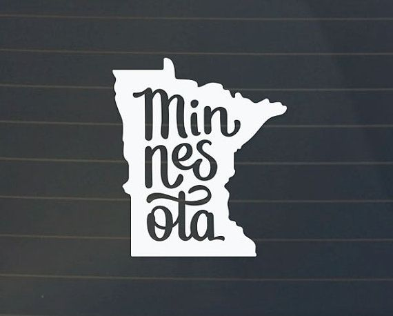 Minnesota decal minnesota sticker minnesota by armadasupplyco