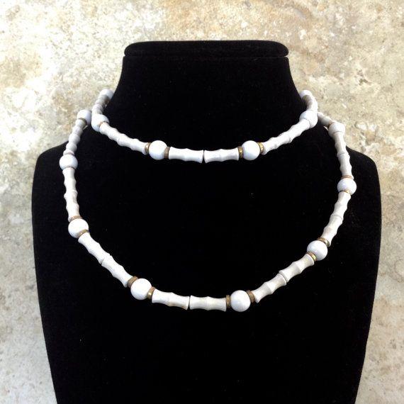 Essex Of Canada White Bead Necklace Valentine Beaded Necklace White Beads White Beaded Necklaces